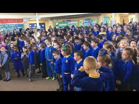Amhrán na bFiann - St Patrick's Assembly and Seachtain na Gaeilge 2018