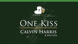 Calvin Harris & Dua Lipa - One Kiss - LOWER Key (Piano Karaoke / Sing Along)