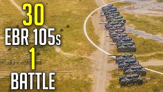 30 EBR 105s in 1 Battle | 15 vs 15 EBR 105s | Face Off Season 2 Teaser | World of Tanks