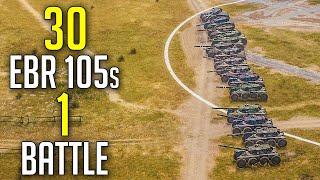 30 EBR 105s in 1 Battle | 15 vs 15 EBR 105s | Face Off Season 2 Teaser | World of Tanks