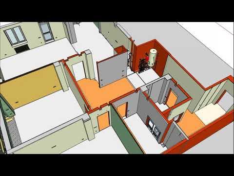Технический 3D проект квартиры 160 кв.м. в Казани
