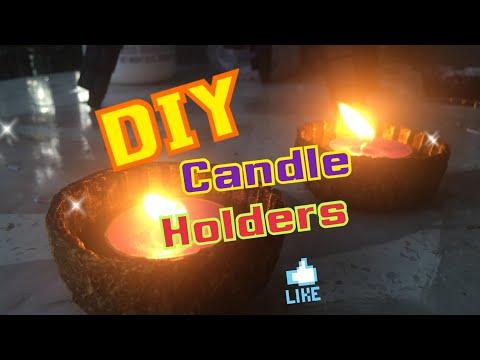 DIY Home Made Paper mache Candle Holder -Home Decor Ideas