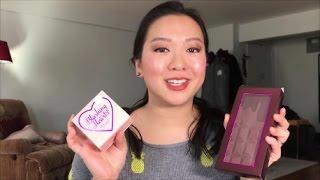makeup revolution tam beauty bday haul mystery bag reveal