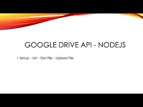 Google Drive Api - NodeJs