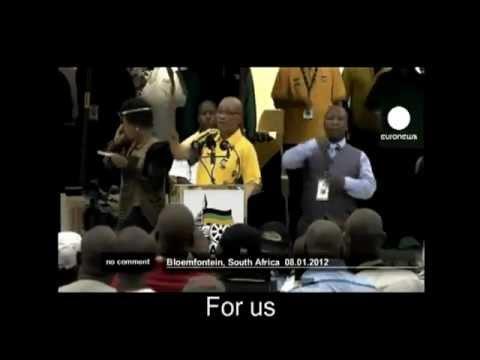 Jacob Zuma sings kill the white farmer South Africa