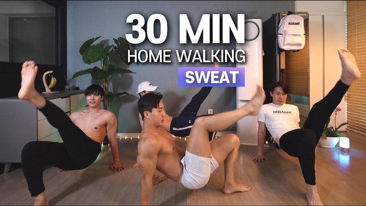 e.10 층간소음 걱정 없는 30분 걷기 홈트 (땀범벅💦!!) | No Jumping 30min HOME WALKING (SWEAT💦!!)