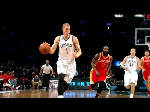 Mason Plumlee Career High 24 Points -- Nets/Rockets 1/12/2015