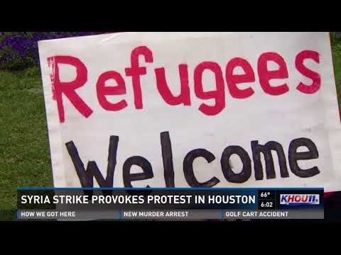 Houstonians hold impromptu protest after US airstrikes on Syria