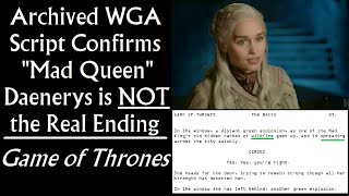 """Archived WGA Script Confirms """"Mad Queen Daenerys"""" is NOT the Real Ending - Game of Thrones (Intro)"""