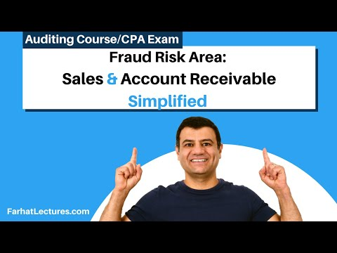 Fraud risk area  sales and account receivable CPA exam AUD Auditing course