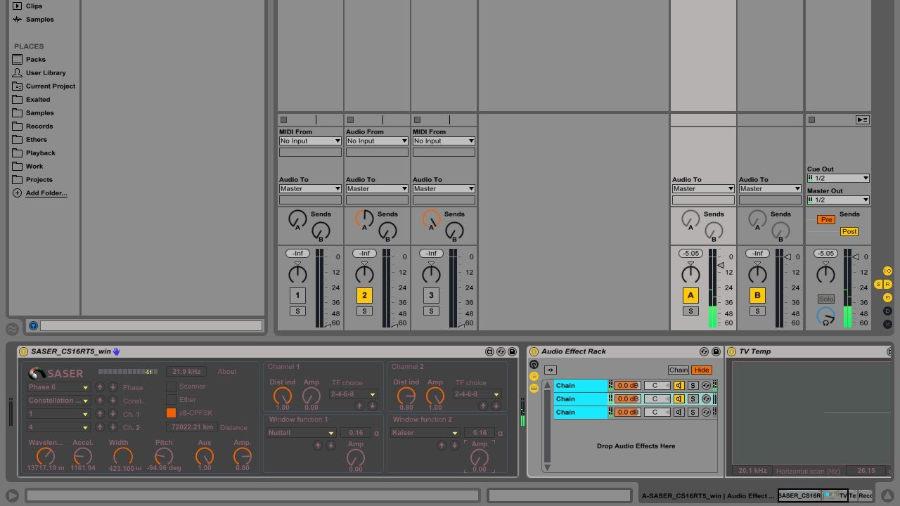 Making Intergalactic Phone Call in Ableton Live 9