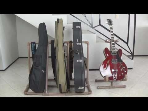 Rack/Suporte caseiro PVC para instrumentos (Guitarra, Violão, Baixo)
