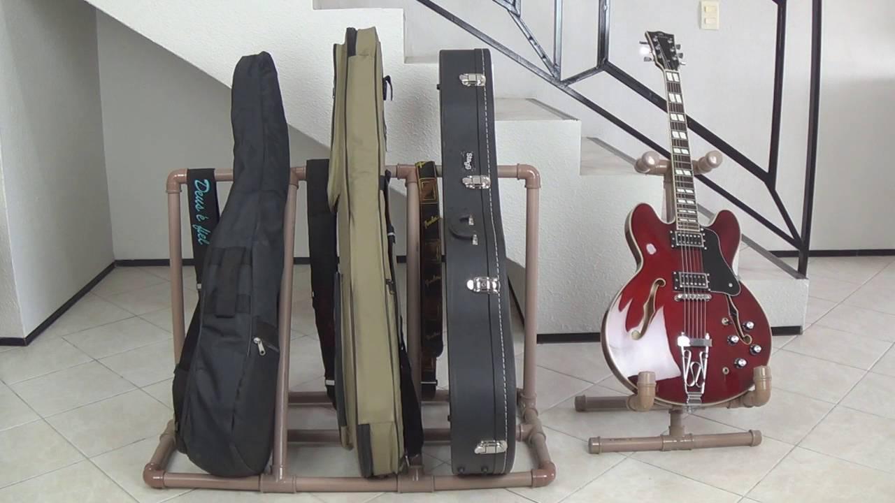 RackSuporte caseiro PVC para instrumentos Guitarra