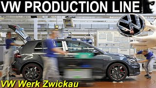 VOLKSWAGEN PRODUKTION ZWICKAU | Assembly Line Production Plant Footage