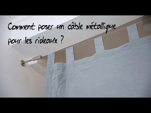 comment poser un cable metallique pour les rideaux