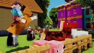 MET PAARDEN RACEN DOOR ACHTERTUIN - Minecraft Roleplay