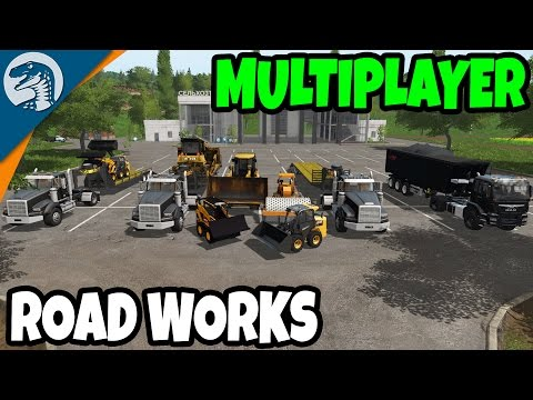 BIG PUBLIC WORKS ROAD BUILDING | Farming Simulator 17 Multiplayer Gameplay