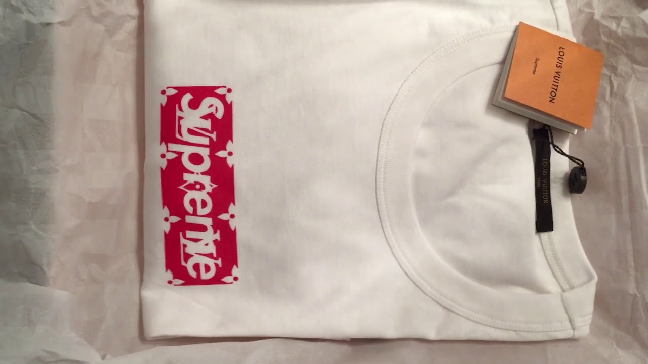 793a86782727 Supreme x Louis Vuitton Box Logo Tee Unboxing - YouTube
