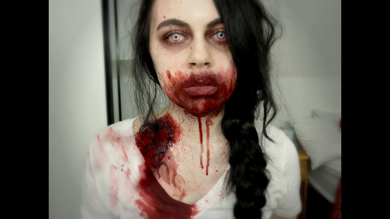 maquillage halloween walking dead