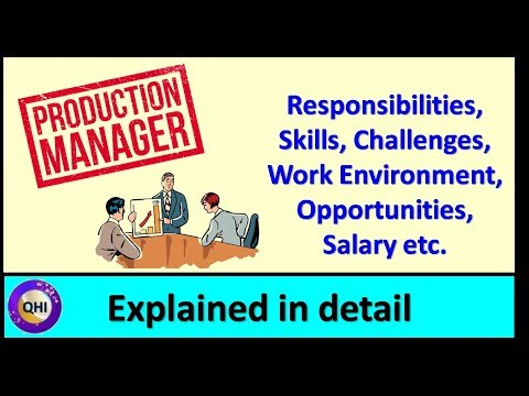 Production Manager - Responsibilities, Challenges, Opportunities, Salary Etc