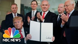 President Donald Trump: Israel Has 'Sovereign Right Over The Golan Heights' | NBC News