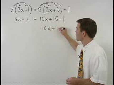 Solving Multi Step Equations Mathhelp Com Algebra 1 Help Youtube