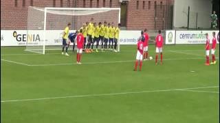 H�jdepunkter fra U17-udekampen mod Br�ndby (2-0)
