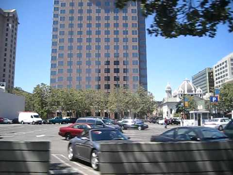 VTA Light Rail Santa Clara to Paseo de San Antonio San Jose California Valley Trans Authority