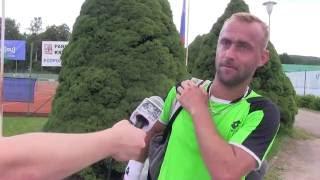 Roman Jebavý po prohře v prvním kole na turnaji Futures v Ústí n. O.