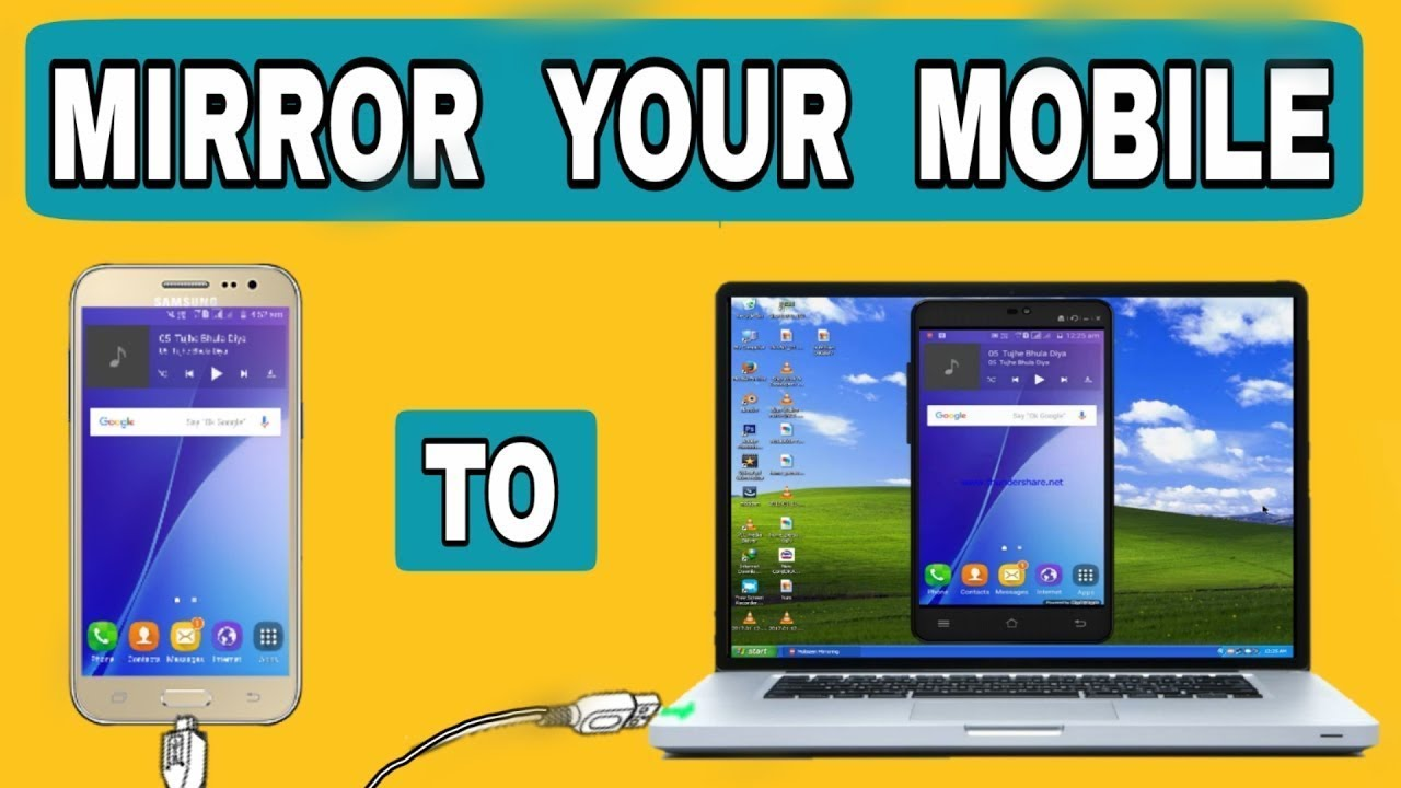 How To Mirror Your Android Screen Phone To Pc Via Usb Youtube