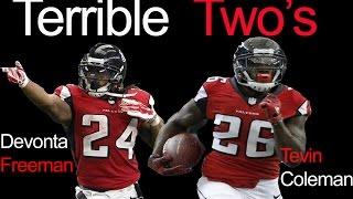 Devonta Freeman and Tevin Coleman II Terrible Twos' II Atlanta Falcons highlights
