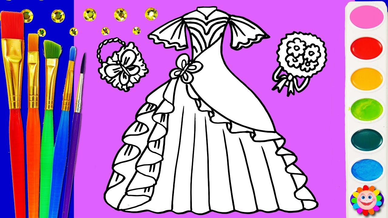 Coloring Pretty Dress Up BARBIE Clothing Coloring Pages For Girls