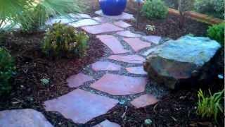Oxnard Landscape Design, Flagstone, Pavers, Lighting, Plants, Irrigaiton