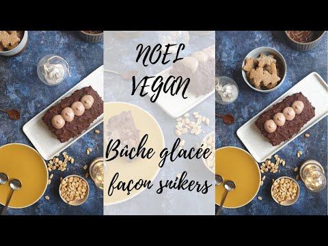noel-vegan-bûche-glacée-façon-snickers-facile,-sans-sorbetière:-chocolat,-cacahuète-!-😊🎄