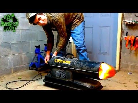 Mr. Heater Contractor Repair & Adjustment | Torpedo Heater Fuel Line Replacement