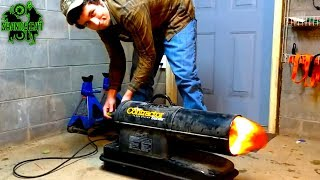 Mr. Heater Contractor Repair & Adjustment | Torpedo Heater Fuel Line Replacement