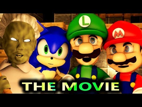 GRANNY VS SONIC & MARIO THE MOVIE! (official) Minecraft Horror Game Animation Video