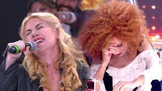 Esmeralda Mitre se desató, empezó a cantar y Nacha se agarró la cabeza