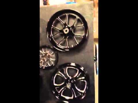 Ftd customs new wheel display for bike week Panama City bea