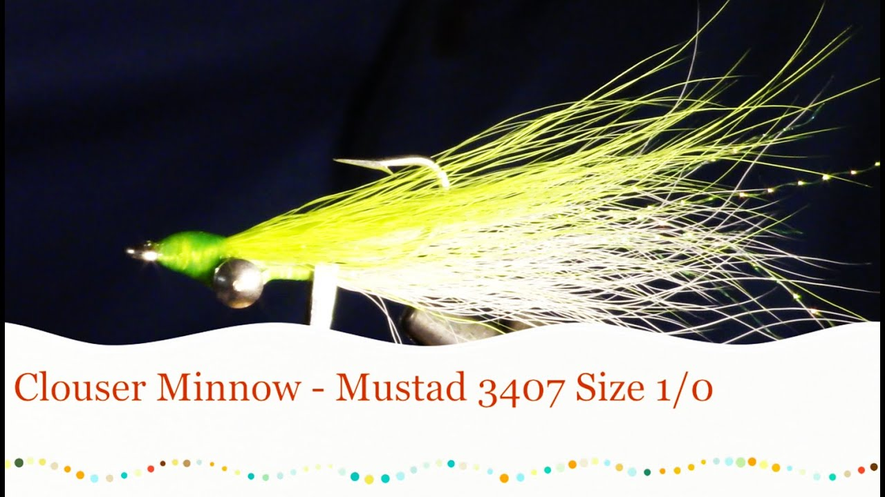 How To Tie The Clouser Minnow Fly  Saltwater And Fresh Water Streamer Fly