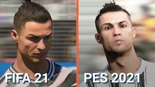 BENZEMA, MBAPPÉ, MESSI... Ont-ils un visage plus réussi sur FIFA 21 ou sur PES ? Comparatif !