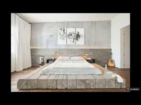 Кровати двуспальные деревянные: 51 акцент в интерьере