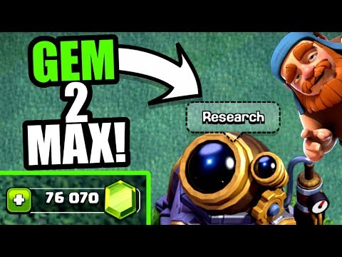 GEM TO MAX LEVEL!! A NEW METHOD TO GET GEMS IN CLASH OF CLANS!