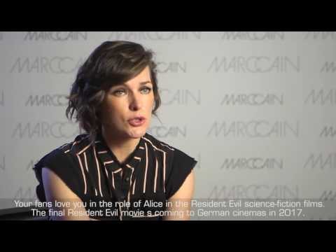 Milla Jovovich interview for the Marc Cain Fashion Show