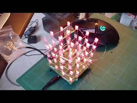 4x4x4 LED Cube Electronics Kit