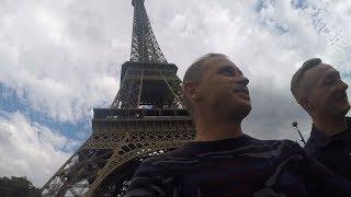 Лондон - Париж. Поезд Евростар. 300 км.ч.Прогулка по Парижу.