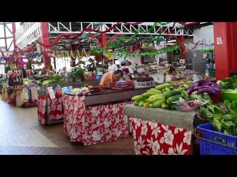 Papeete, Tahiti, French Polynesia - Papeete Market HD (2017)