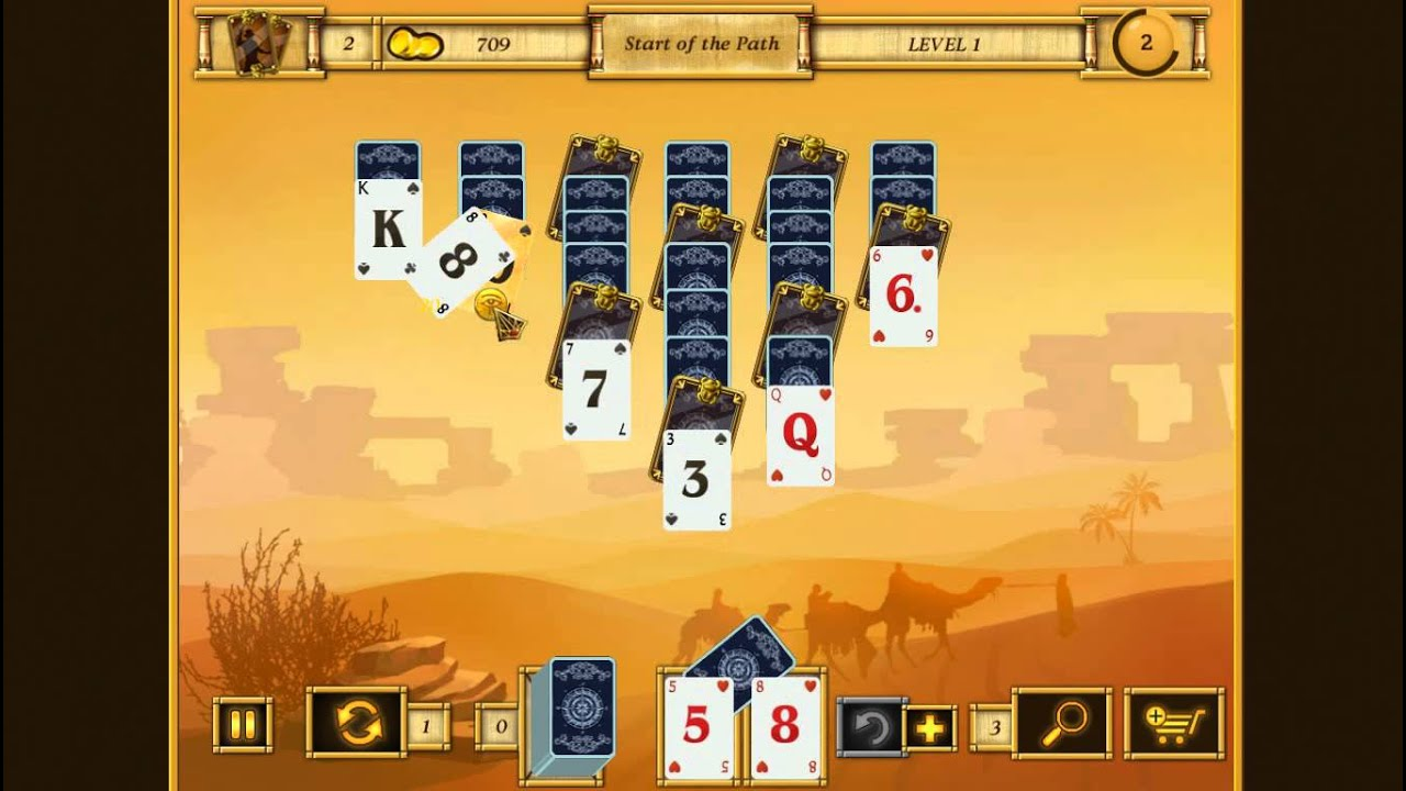 Egyptian solitaire card game