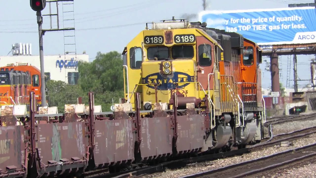 BNSF Commerce Yard with a AMTRAK Surfliner going past 7/13/14