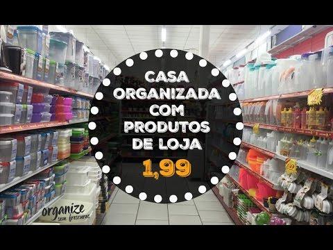 CASA ORGANIZADA COM PRODUTOS DE LOJA DE 1,99